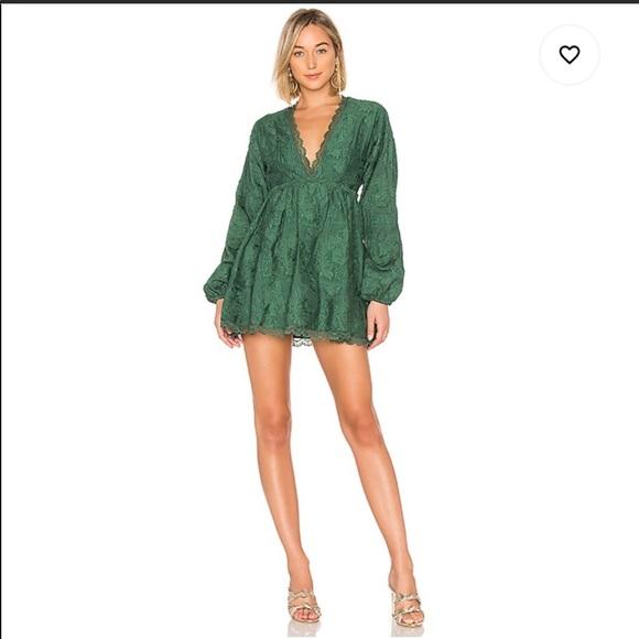 House of Harlow 1960 x Revolve Emerald mini dress